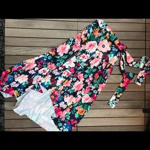 Eliza J | Floral Print High Low Fl. Length Skirt